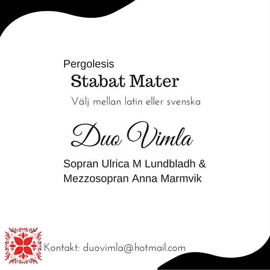 Stabat mater Duo Vimla